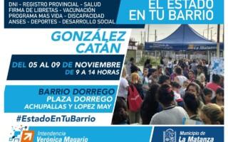 El Estado en tu Barrio continúa en González Catán