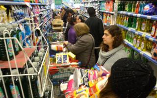 Las ventas en supermercados subieron a menor ritmo que la inflación