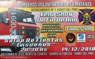 """""""Virrey del Pino por Bomberos"""": una iniciativa solidaria"""