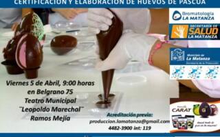 Charla sobre manipulación de alimentos con certificación