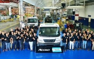 Gran inversión:una multinacional comenzó a producir un camión liviano en Virrey del Pino