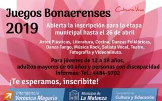 Juegos Bonaerenses 2019: se abrieron las inscripciones para las disciplinas artísticas