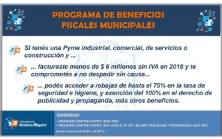 Programa de beneficios fiscales municipales