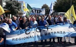 """Desde La Matanza, la CGT nacional aseguró que """"el 4 de abril será el comienzo de una nueva gesta"""""""
