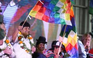 Antes de encontrarse con Macri, Evo Morales encabezó un acto junto a la comunidad boliviana en La Matanza