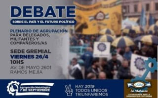 Debate sobre el país y futuro político