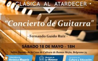 """El ciclo Clásica al atardecer presenta """"Concierto de Guitarra"""""""