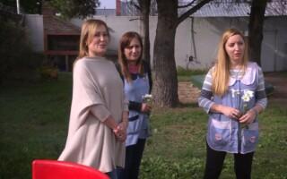 Silvina Gvirtz visitó el Jardín 920 para saludar a las maestras jardineras en su día