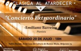 """Clásica al Atardecer presenta """"Concierto extraordinario de piano"""""""