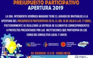 Presupuesto participativo Apertura 2019