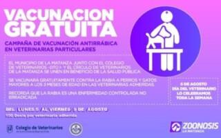 Celebramos el día del veterinario con una semana de vacunación antirrábica gratuita en veterinarias de toda La Matanza