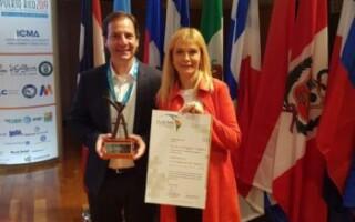 Verónica Magario fue distinguida en la Cumbre Internacional de Alcaldes en Puerto Rico