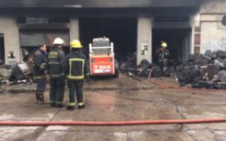 San Justo: un incendio azotó un outlet de electrodomésticos