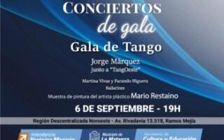 """Conciertos de """"Gala de Tango"""" en Ramos Mejía"""