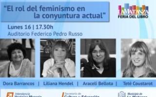 """XII Feria Municipal del Libro de La Matanza """"El rol del feminismo en la coyuntura actual"""""""