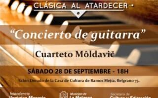 """El ciclo Clásica al Atardecer presenta """"Concierto de guitarras"""""""