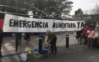 """""""El hambre no se tolera"""": ollas populares en San Justo para exigir la emergencia alimentaria"""