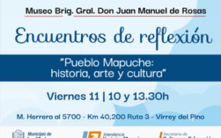 """Encuentros de reflexión """"Pueblo Mapuche: historia, arte y cultura"""""""