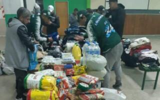 Deportivo Laferrere continúa con la ayuda a los damnificados por las inundaciones