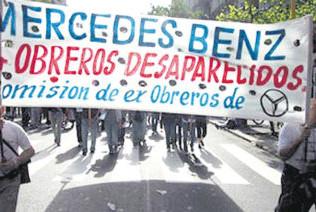 Colocarán una placa en memoria de los trabajadores desaparecidos de Mercedes Benz