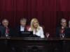 Magario estrenó cargo con su primera sesión en el Senado, donde se rodeó de colaboradores matanceros