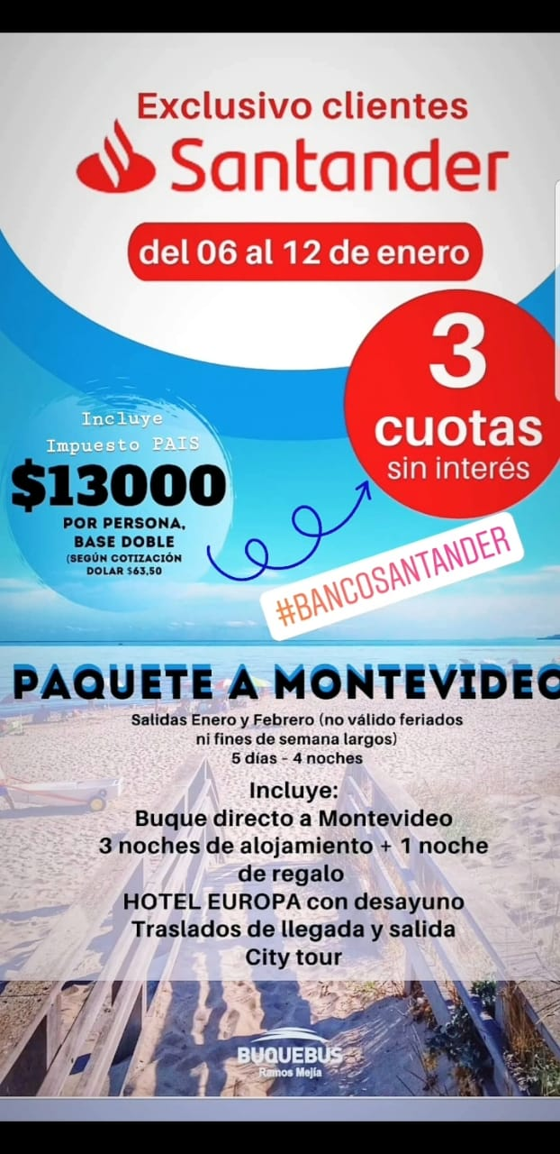 Paquete a Montevideo