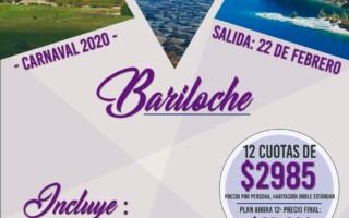 CARNAVAL 2020 – Por Argentina! Paquete a Bariloche
