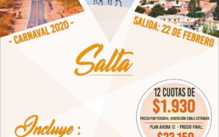 CARNAVAL 2020 – Por Argentina! Paquete a Salta