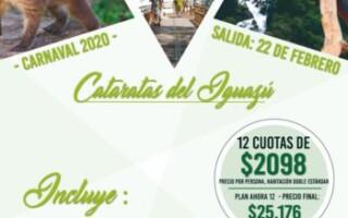 CARNAVAL 2020 – Por Argentina! Paquete a Iguazú