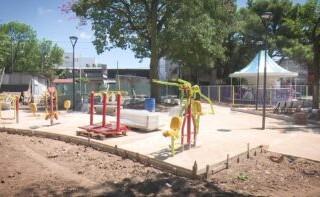 Se está remodelando la plaza Bomberitos de Ramos Mejía