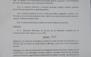 Fernando Espinoza decretó la Emergencia Sanitaria en La Matanza y creó un Consejo especial interinstitucional