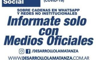 La Municipalidad de La Matanza informa cómo funciona el Circuito de atención por Asistencia Alimentaria