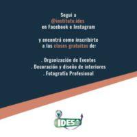 Una oportunidad en la Cuarentena: elINSTITUTO IDES comienza con las clases demostrativas gratuitas