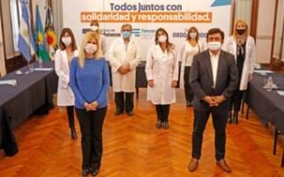 Verónica Magario y Fernando Espinoza se reunieron con directores de hospitales provinciales para evaluar y seguir articulando acciones frente al Covid 19