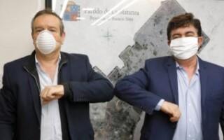 Espinoza siguió con la ronda de encuentros con la oposición y recibió al concejal Saredi