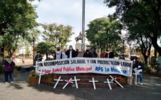 """San Justo: médicos municipales volvieron a la calle en protesta por """"el estado de la salud pública"""""""
