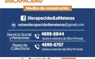 Teléfonos de la Subsecretaría de Personas con Discapacidad