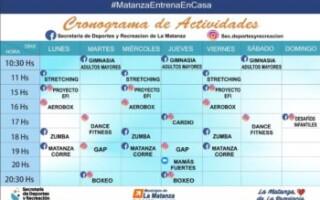 Secretaría de Deportes: Cronograma de actividades gratuitas en redes sociales