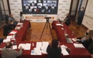 Espinoza se reunió con cámaras empresariales, de comercio y la CGT, y conformó una mesa permanente de diálogo para la post pandemia