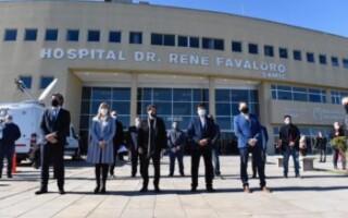 Fernández, Kicillof y Espinoza inauguraron el hospital René Favaloro, para pacientes con COVID-19