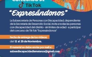 """Concurso de Tik-Tok """"Expresándonos"""""""