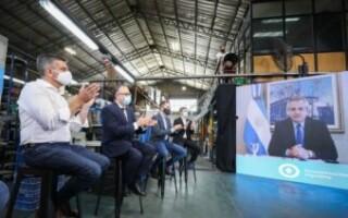 """Lanzan el Plan de Reactivación para PyMEs: """"Dan el 80 por ciento del trabajo en el país"""", resaltó el Presidente Alberto Fernández"""