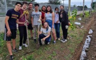 Socios y colaboradores del club Juventud y vecinos de Ciudad Evita plantaron árboles