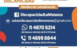 Nuevos medios de contacto de la Subsecretaría de Personas con Discapacidad