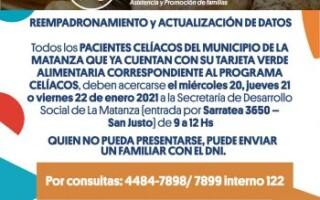 Reempadronamiento y actualización de datos de los beneficiarios del Programa PAAC