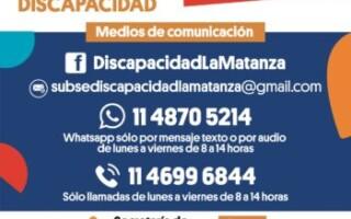 Actualización de los medios de contacto de la Subsecretaría de Personas con Discapacidad