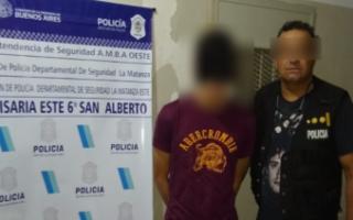 """Cayó """"Patacón"""", uno de los ladrones que baleó al agente del Grupo Halcón en San Justo"""