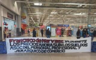 Por un reclamo del personal, Wall Mart de San Justo cerró provisoriamente su atención
