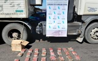 Atrapan a un camionero en el Mercado Central con 28 kilos de cocaína valuada en más de 36 millones de pesos
