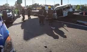 Accidente vial en la Riccheri a la altura de Ciudad Celina